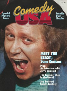 Sam Kinison on the cover of the first edition of ComedyUSA